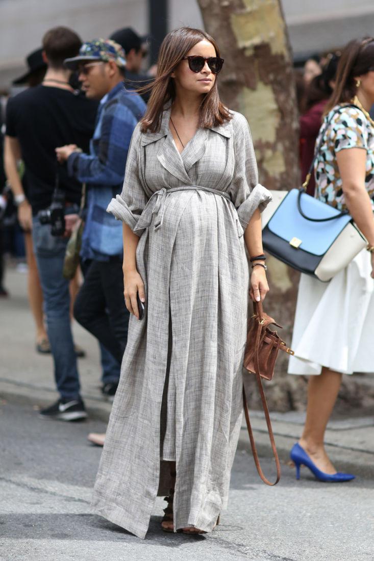 Как одеваются беременные звезды